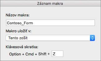 Excel for Mac Record Macros Form