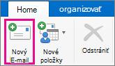 Tlačidlo nový E-mail