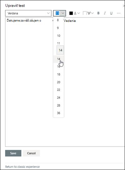 Úprava textu vo formáte RTF