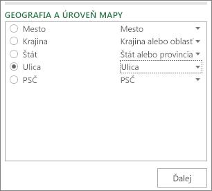 Úroveň Geografia a mapa na pracovnej table