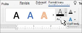 Výplň textu v objekte WordArt
