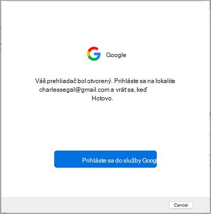 Prihláste sa do služby Google