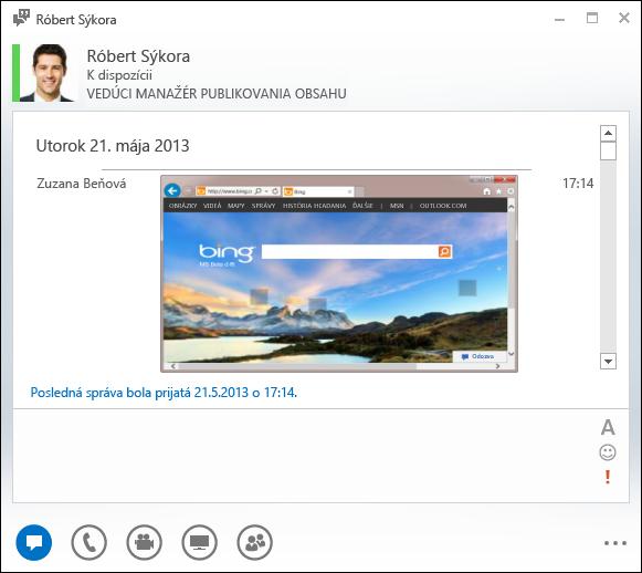 Snímka obrazovky svloženými obrázkami