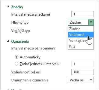 Začiarknite políčko Označiť a označenia časti formátovať OS panel
