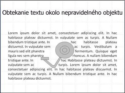 snímka s obrázkom odkryté z textu