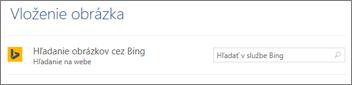Pole vyhľadávania obrázkov v Bingu