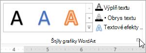 Výber spúšťač dialógového okna štýly grafiky WordArt