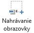 Tlačidlo Nahrávanie obrazovky na karte Nahrávanie vPowerPointe 2016