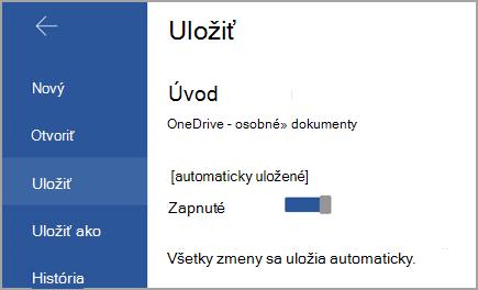 Prepínač automatického ukladania v zariadení s Androidom