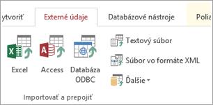 Karta externé údaje prístupu používateľov