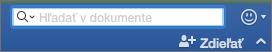 Zadanie textu, ktorý sa má v dokumente vyhľadať