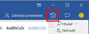 Zobrazenie predchádzajúcich verzií súborov balíka Office