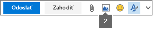 Ikona Vložiť obrázok umožňuje vložiť obrázok zOneDrivu alebo zpočítača