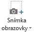 Tlačidlo snímka obrazovky na karte Nahrávanie v PowerPointe 2016
