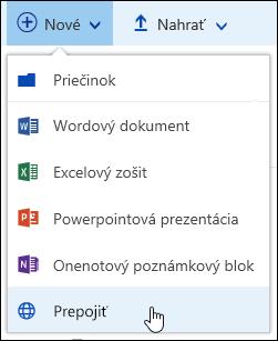 Pridanie prepojenia na knižnicu dokumentov