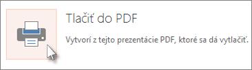Tlač snímok ako PDF