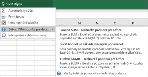 Kliknite na pole Chcem zistiť v Exceli, a zadajte, čo chcete urobiť. Funkcia Chcem zistiť sa vám s touto úlohou pokúsi pomôcť.