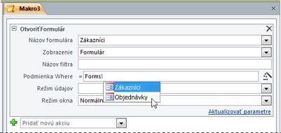 Použitie technológie IntelliSense na zadanie výrazu