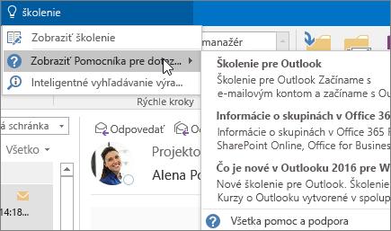 Nástroj Chcem zistiť v Outlooku