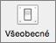 Ikona Všeobecné zobrazená v časti Predvoľby Outlooku.