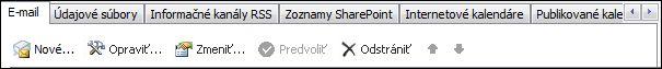 Pridanie nového konta v Outlooku 2010