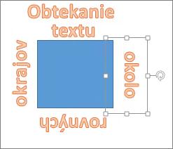 Pridanie objektu WordArt okolo tvaru s rovnými okrajmi