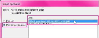 Vybrať Microsoft Excel