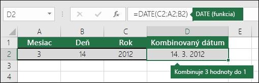 Funkcia DATE, príklad 2