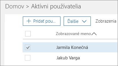 Vyberte používateľa, ktorého chcete zablokovať.