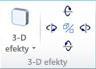 Skupina Priestorové efekty WordArt vprograme Publisher 2010