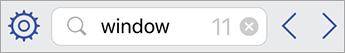 Vyhľadávacie pole vo Visio Vieweri pre iPad