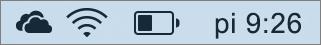 Ikona OneDrivu na paneli úloh vMacu