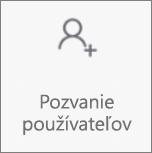 Tlačidlo na pozvanie ľudí vo OneDroid pre Android