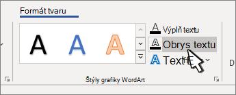 Vybraté textové prehľady štýlov WordArt