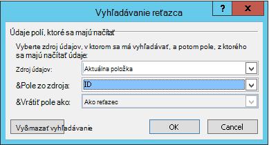 Vloženie hypertextového prepojenia pre položku zoznamu 3