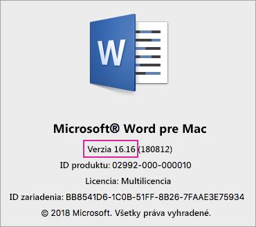 VL 2016 – o programe Word
