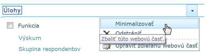 Minimalizovať