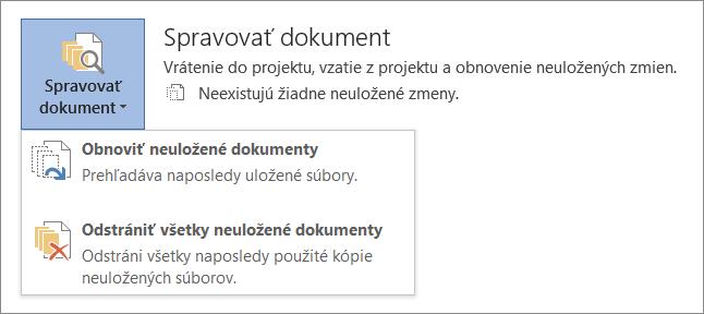 Správa dokumentov v Office 2016