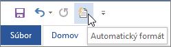 Ikona funkcie Automatický formát