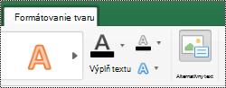 Tlačidlo alternatívny text pre tvary na páse s nástrojmi v Exceli pre Mac
