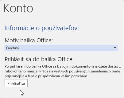 Snímka obrazovky znázorňujúca informácie okonte vo Worde