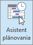 Outlook, tlačidlo Rozvrhového asistenta