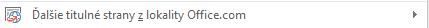 Ďalšie rozloženia titulnej strany sú k dispozícii na lokalite Office.com.