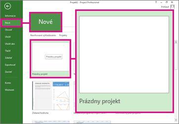 Obrázok tlačidla na vytvorenie nového prázdneho projektu