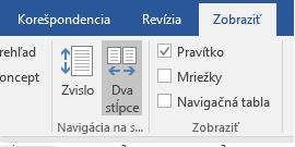 Vodorovné zobrazenie strán vo Worde 2016