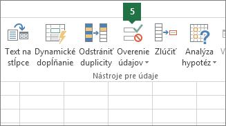Overte rozbaľovací zoznam kliknutím na položky Údaje > Overenie údajov vExceli