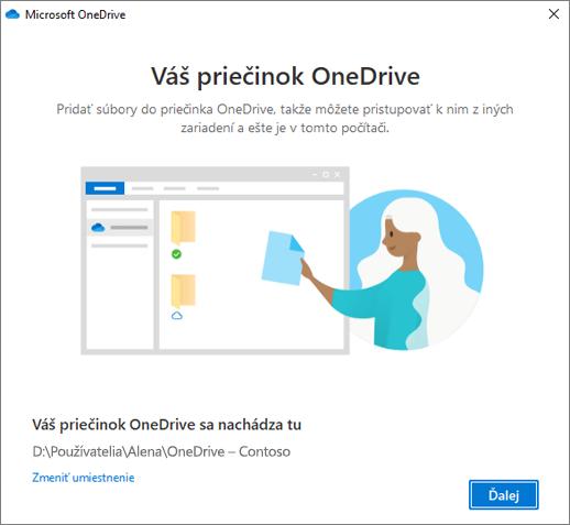 Obrazovka Toto je váš priečinok OneDrive vsprievodcovi Víta vás OneDrive