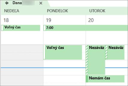 Čo má váš kalendár vyzerať ako osoby, ktoré zdieľali s.