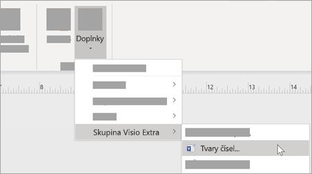 Na karte Zobraziť vyberte položku Doplnky > Visio extras > číselné tvary a pridajte formátovanie čísel.