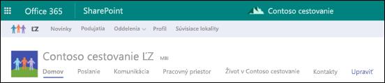 SharePoint rozbočovača lokality zdieľané navigácie